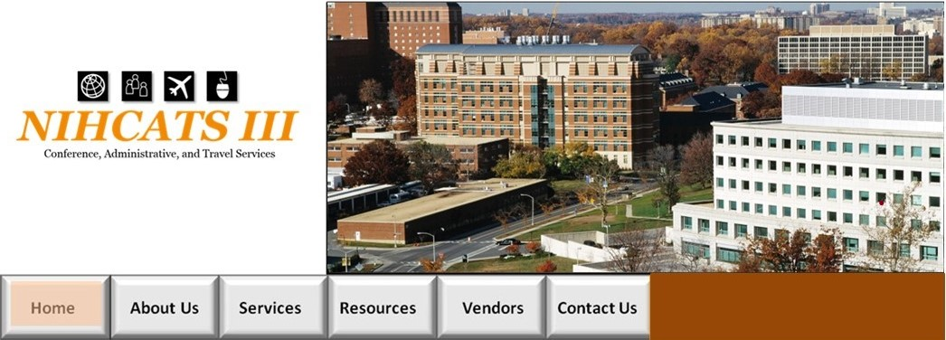 Top phot Website Image with NIHCATS 3 logo and photo of the NIH campus